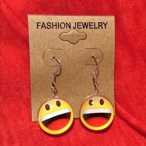 Jewelry - Big Mouth Smiley Emoji Earrings